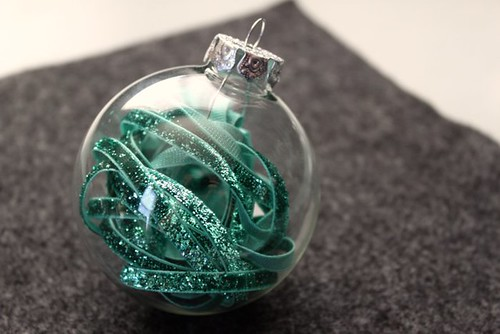 Ribbon Filled Holiday Ornament