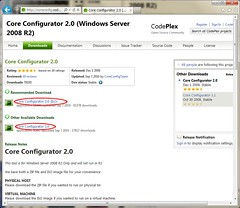 All downloads of Core Configurator
