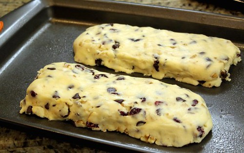 Chocolate Cranberry Walnut Biscotti