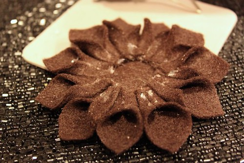 Felt Flower Holiday Ornament
