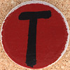 Cardboard Letter T