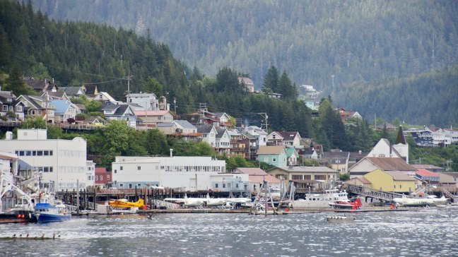 View from Safeway parking lot in Ketchikan