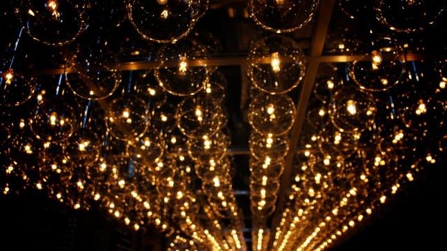 Bar lights on M/V Columbia