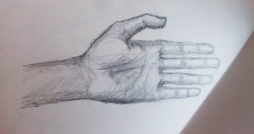 Drawing of my own left hand
