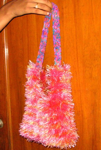 Fun fur bag.