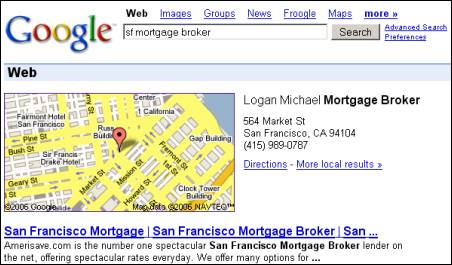 Google Maps OneBox
