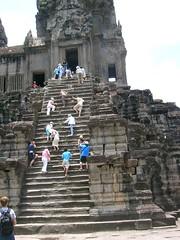 Las escaleras de Angkor como compendio del viaje
