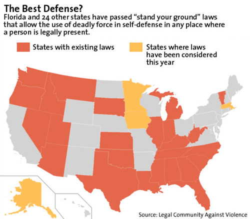 """Stand Your Ground"" States"