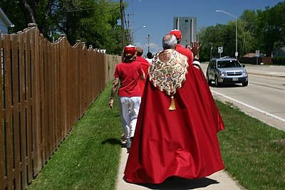 Fr. Ted Anchors The Procession