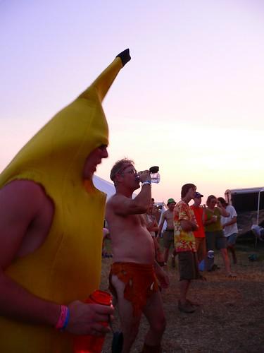 Banana Man dancin' with Loin Cloth Man