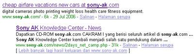 Sony-AK Menghilang