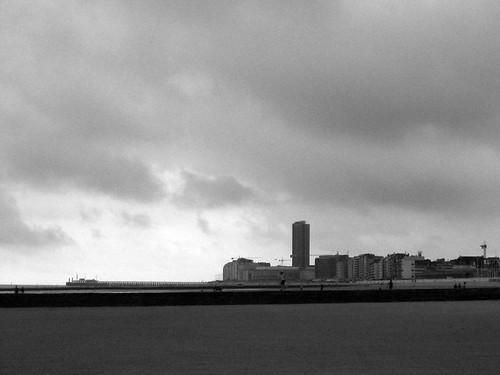 skyline of oostende