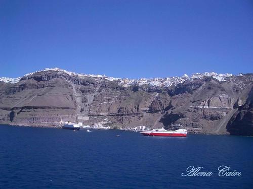 Eu vi o mar de Santorini na Grécia