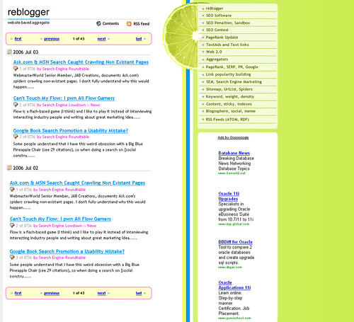 reBlogger 4 - Web 2.0 theme