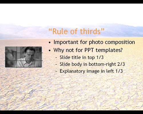 Rule of thirds for Powerpoint (no rules)