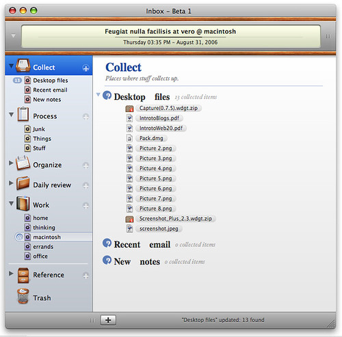 New Mac GTD app: Inbox