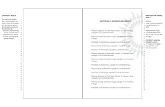sample layout - copyright pages