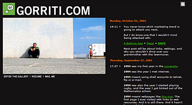 gorriti.com back in its heyday