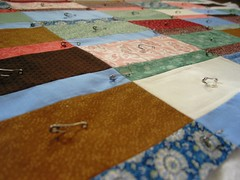 Lauren's quilt: pinned