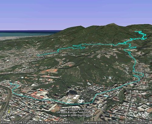 Paul的GPS路線+GoogleEarth所繪3D路線路