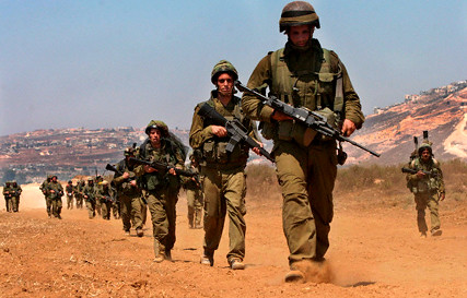 Israeli infantry troops in South Lebanon 15 Aug 2006