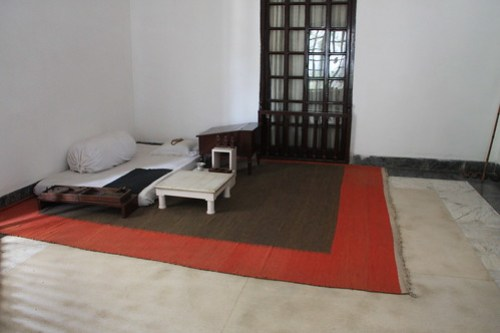 Gandhi's room, very simple