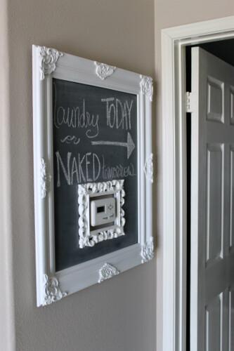 Chalkboard Thermostat Frame