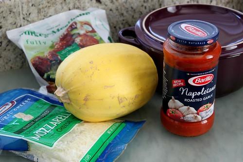 Spaghetti Squash Meatball Bake