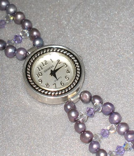 Freshwater Pearl and Swarovski Crystal Watch