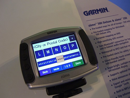Garmin Zumo at NEC
