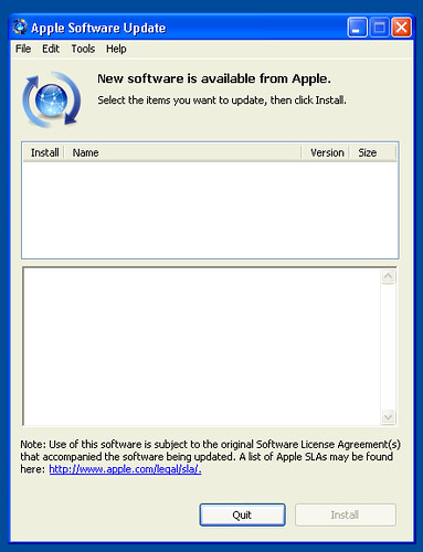 Apple Software Update on Windows