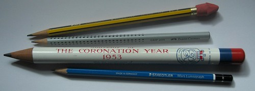 1953 Coronation Pencil - With Other Pencils