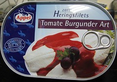 Appel zartre Heringsfilets- Tomate Burgunder Art