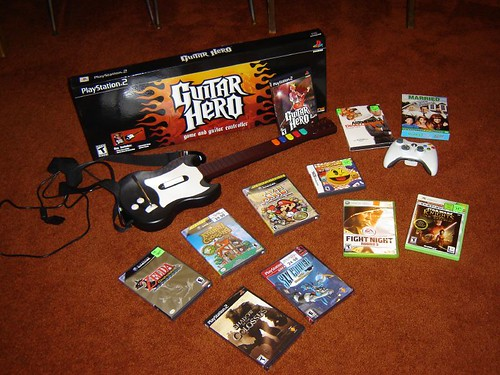 new games and dvd's