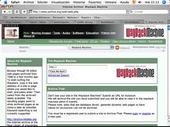 Internet Wayback Machine