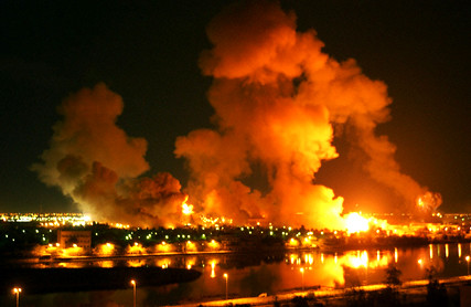 Heavy bombing in Baghdad, 'Shock and Awe', 21 Mar 2003