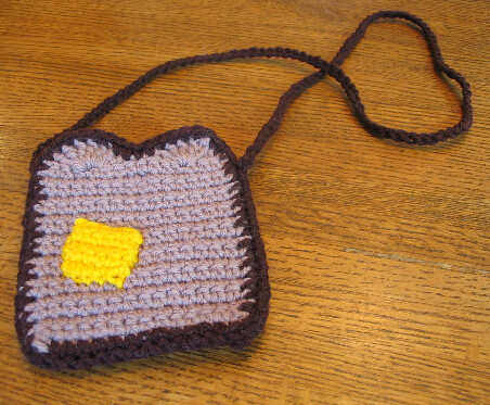 Wicked Crochet Toast Purse from Bitter Sweet