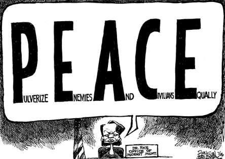 Definición de Paz según Bush y sus secuaces