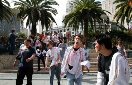 Zombies invades SF