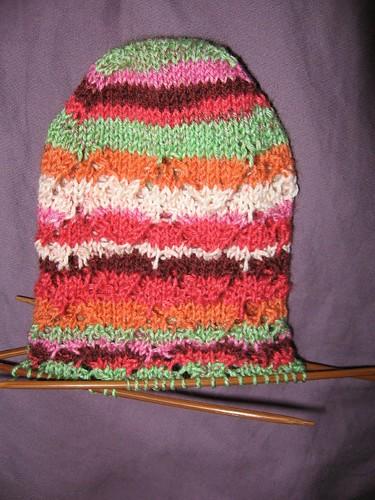 lace sock in progress 2