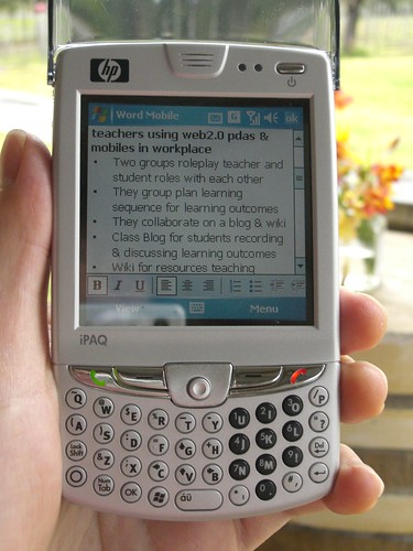 Mlearning - Using pdas and mobiles in the workplace