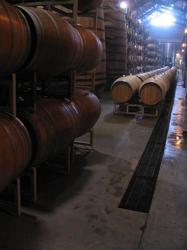 Barrels of wine at Firestone