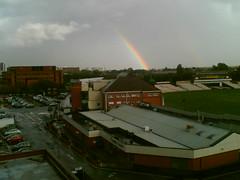 Rainbow over Old Trafford