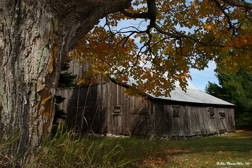 Barn at the Eckhert Farm, Autumn View