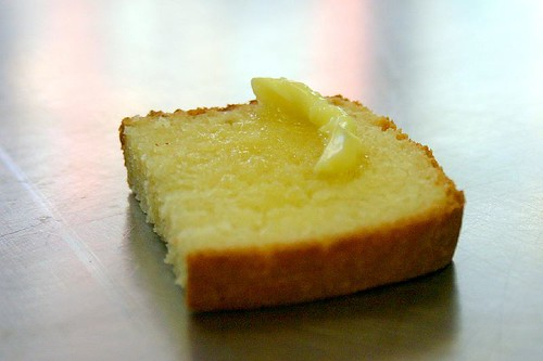 white batter bread, first taste