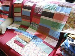 Lauren's quilt: Rows