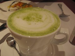 hot macha green tea