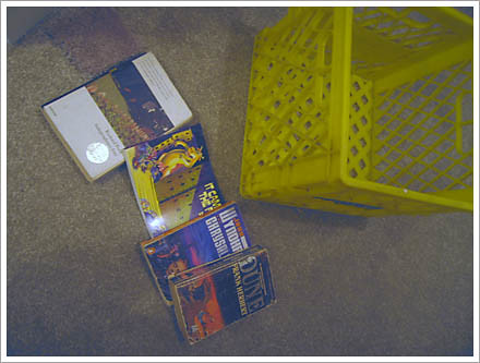 books and yellow box