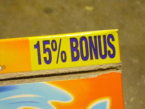 15% Bonus?