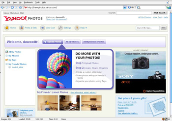 Yahoo! Photos Screenshot